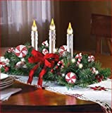 CHRISTMAS PEPPERMINT CANDY CANE CENTERPIECE LIGHTED DISPLAY TABLE MANTLE DECORATION