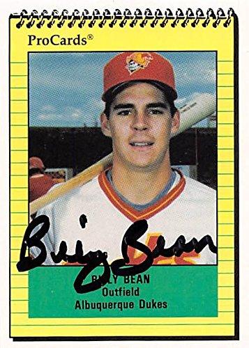 Billy Bean Autographed Baseball Card Albuquerque Dukes