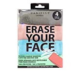 Erase Your Face - 4 pack makeup removing cloth by Danielle (Color: Pastel, Tamaño: 4 pack)