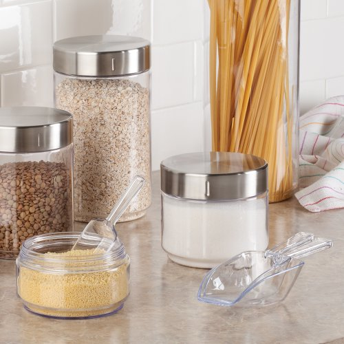 iDesign BPA-Free Plastic Multi-Purpose Measuring Scoops in Multiple Sizes - Clear (Set of 4)