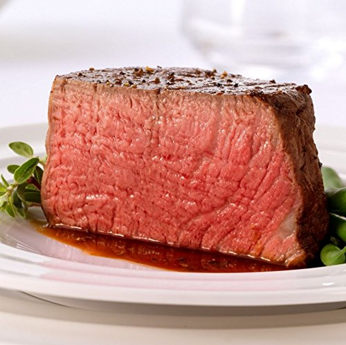 Four USDA Prime Filet Mignon Steaks - Combo Pack of 4 Beef Tenderloin Fillet Mignon Steak, Aged 21 ()