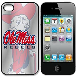NCAA Ole Miss Rebels Iphone 4 and 4s Case Cover by runtopwell
