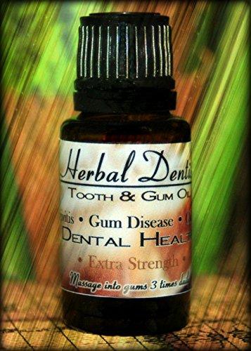 Herbal Dentist Extra Strength - #1 Treatment for Gum Disease, Periodontal Disease, Gingivitis, Bleeding Gums, Receding Gums, Toothache, Oral Pain, Abscessed Tooth, Bad Breath, Sensitive Teeth, Essential Oils