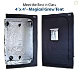 Magical Growth 4ft x 4ft x 6.5ft Highly Reflective Maylar Grow Tent Front Viewing Window