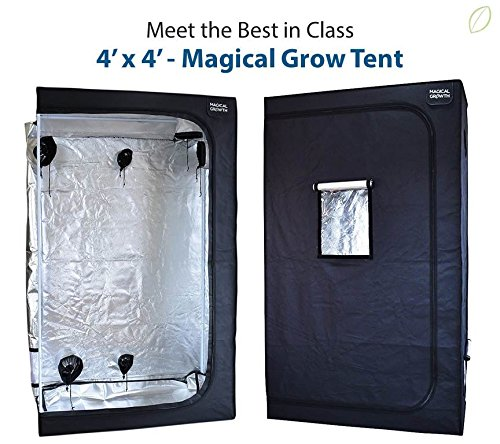 Magical Growth 4ft x 4ft x 6.5ft Highly Reflective Maylar Grow Tent Front Viewing Window Review