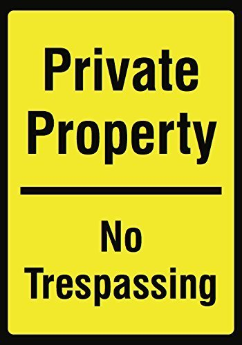 Kevin Porter Tin Sign New Metal Sign Funny Private Property No Trespassing Yellow Keep Out Driveway Garage Street Sign 11.8