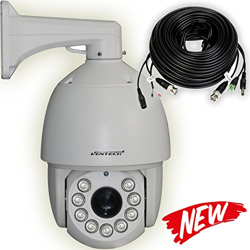 VENTECH PROFESSIONAL PTZ Security Camera 30X Zoom Sony CCD analog 9 Array Leds Night Vision RS485 Pan Tilt zoom ()