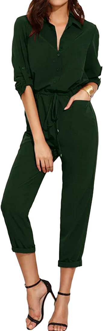 Suede Jumpsuit with Pants in Green Women/'s Green Casual Jumpsuit Suede Autumn Romper in Casual style Women/'s Suede Jumpsuit