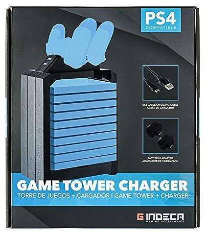 Indeca - Torre contenedora de juegos y cargador dual de ...
