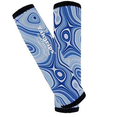 Yakgrips® Blue Wave Non-Slip Soft Kayak Canoe Paddle Grips