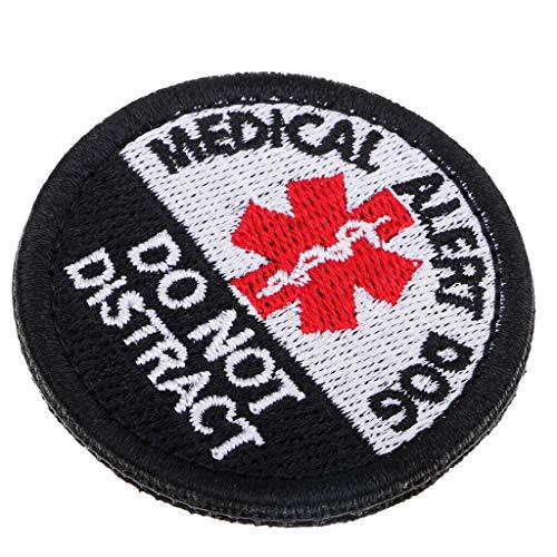 Embroidery Sew On Medical Allert Dog Applique for Bag Hat Jeans Craft Black