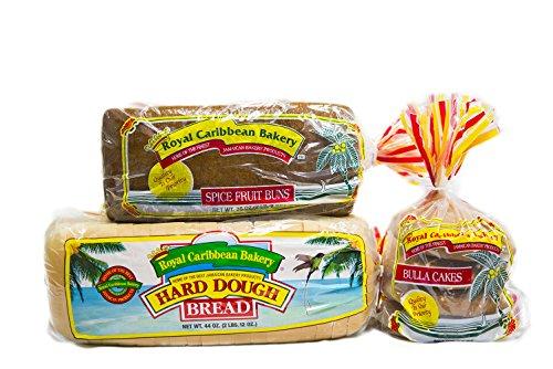 Royal Caribbean Bakery Variety Pack (Hard Dough Bread, 44 Oz.; Spiced Fruit Bun, 38 Oz.; Bulla Cakes, 16 Oz.) -