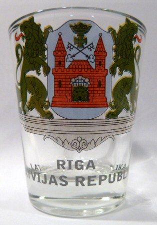 Latvia Riga Shot Glass