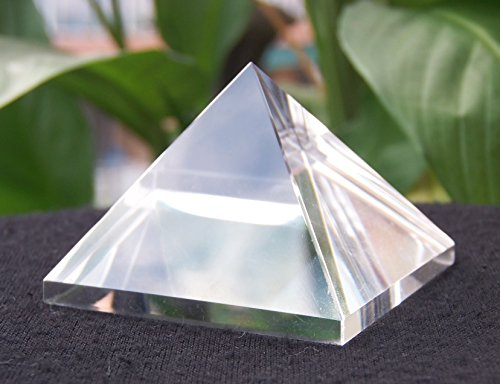 clear quartz pyramid stone divination pranic meditation healing cleansing …