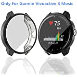 Haojavo Compatible with [Garmin Vivoactive 3 Music] Screen Protector Case, Soft Plated TPU Scratch-Proof Full Protective Protector Cover for Garmin Vivoactive 3 Music Smartwatch Bands Accessories