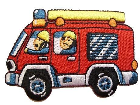 Feuerwehr 7,4 cm * 5 cm Bügelbild Aufnäher Applikation Patch Aufbügler Aufbügelflicken