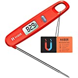 Habor Instant Read Meat Thermometer Digital Cooking Thermometer, Magnetic Attachment, Collapsible Internal Probe for Kitchen, BBQ, Grill, Candy, Milk