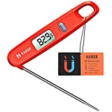 Habor UPGRADE Instant Read Meat Thermometer Digital Cooking Thermometer, Magnetic Attachment, Collapsible Internal Probe for Kitchen, BBQ, Grill, Candy, Milk