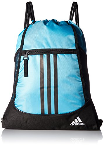 adidas Alliance Ii Sackpack, Bright Cyan/Black/White, One - Cyan Bags