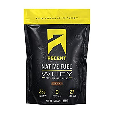 Ascent Native Fuel Whey Protein Powder - Made with Native Whey - Zero Artificial Ingredients - Gluten Free