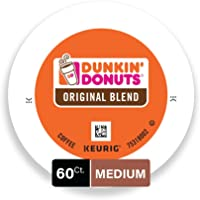 Dunkin' Donuts Original Blend Medium Roast Coffee, 60 K Cups for Keurig Coffee Makers ( pack of 6 )