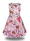 Minilove Gilrs Unicorn Princess Castle Dress(6,Pink)