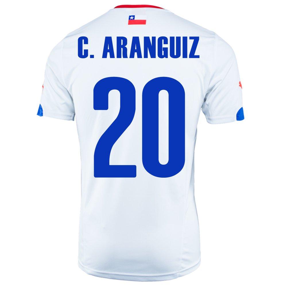 Puma C. ARANGUIZ #20 Chile Away Jersey World Cup 2014/サッカーユニフォーム チリ アウェイ用 ワールドカップ2014 背番号20 C.アランギス B00LLIXD54Small