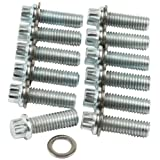Allstar ALL87010 12-Point Zinc Plated Intake Manifold Bolt Kit Chevy Small Block/Mopar A/B, (Pack of 12)