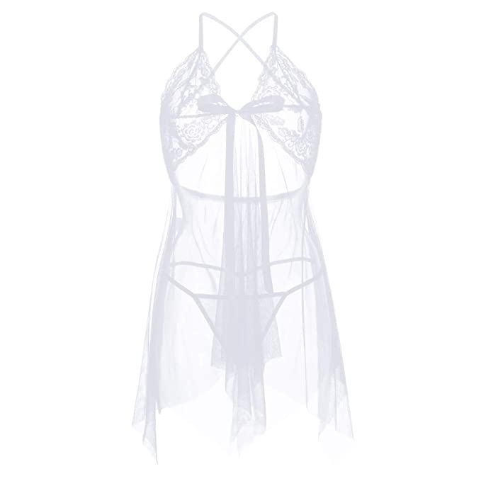 b47ab1056530 Lenceria Sexy Mujer de Encaje, MINXINWY 2019 Conjunto Sexy Mujer ...
