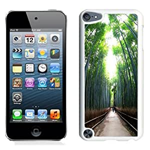 NEW Unique Custom Designed iPod Touch 5 Phone Case With Tall Trees Forest Path_White Phone Case