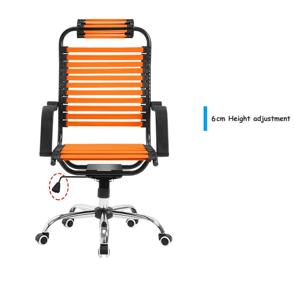 Kommersiell stol/hälsovol/gummibandstol, ergonomiskt kurvryggstöd, 6 cm höjdjustering, använd lutningsmekanism, stabil och andningsbar (flerfärgad tillval) Röd