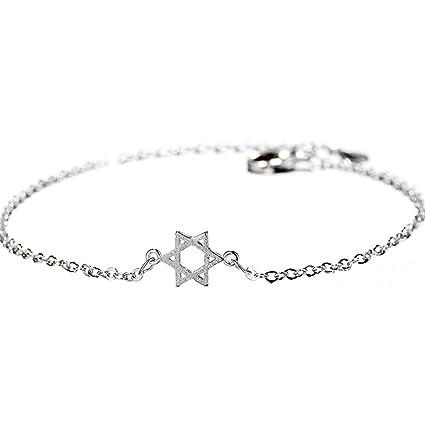 New York 8a0dc bb9c1 Zmigrapddn Mode Bracelet, Mode Femme brossé Creux Hexagramme ...