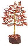 Rastogi Handicrafts Gemstone Lucky Tree Feng shui decorative Showpiece Vastu Carnelian Stone Table Decor ( RED TREE) Christmas Thanking Gift
