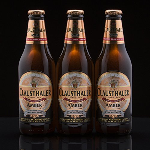 Large Product Image of Clausthaler Amber Dry Hopped Non-Alcoholic Beer, 12-oz (350 ml) Case of 12 Glass Bottles
