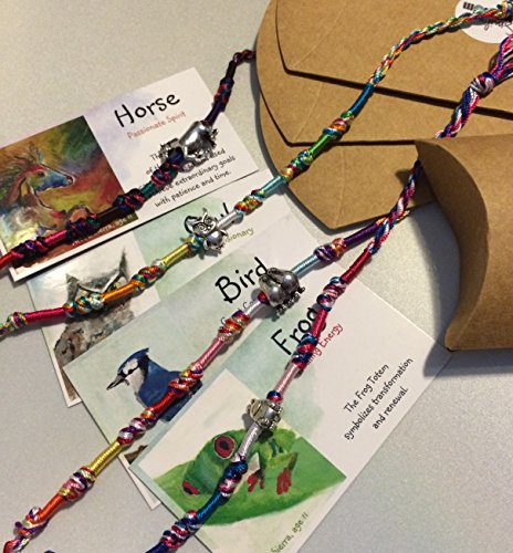 Smiling Wisdom - Bird Frog Horse Owl Totem Spirit Animals for Kids (4 Gifts) - Mixed Colored Friendship Bracelets - Totem Animal Gift Set - Girls, Boys,Tweens, Teens Gifts (Teen Boy Gift Basket)
