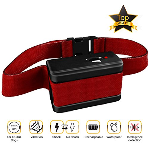[NEW 2018 VERSION] Bark Collar with UPGRADED Smart Chip - Best Intelligent Dog Shock, Beep Anti-Barking Collar. No Bark Control for Small / Medium/Large Dogs - Stop Barking Safe Humane Device