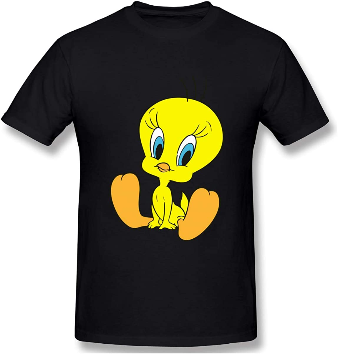 This is A Comfortable Tweety Bird Men's Fashion Short-Sleeved T-Shirt