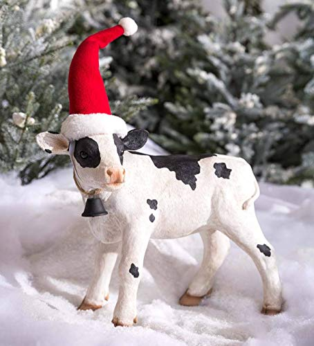- Plow & Hearth Mini Holiday Cow Garden Accent - 15.5 L x 6.75 W x 12.5 H