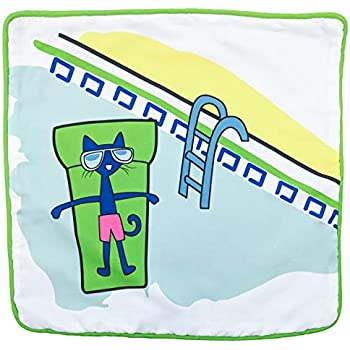 Jay Franco Kids Decorative Pillow Cover Pete The Cat - White