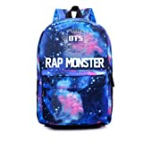 NUOFENG Kpop BTS Backpack Bangtan Boys Starry Sky Satchel Schoolbag Sports Bags (1. Rap Monster)
