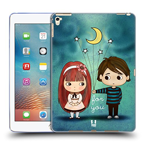 Head Case Designs Give You The Moon And Stars Cute Emo Love Soft Gel Case for Apple iPad Pro (Emo Star)