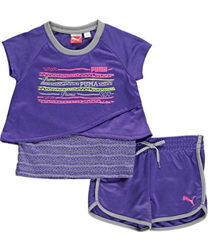 "Puma Little Girls' ""Ladders"" 2-Piece Outfit"