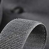 1' Wide x 10Meters Length Black Sew On Hook and