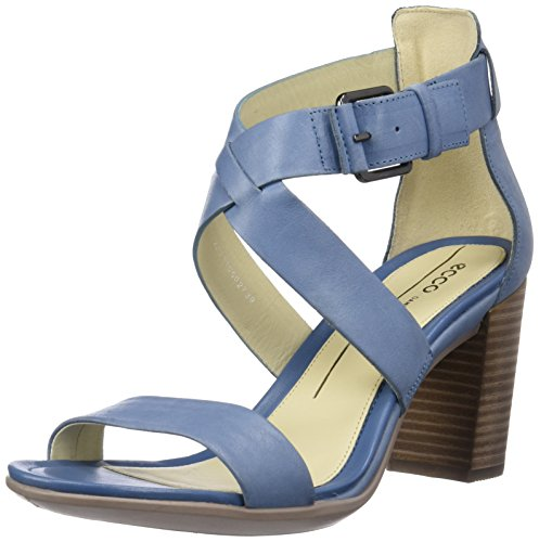 ECCO Shape Women's Blue Dress Block 65 Retro Sandal zz6rAqx