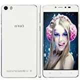 IPRO Mobile Phone Unlocked,5HD Android 5.0 16G ROM+2G RAM Dual Camera 13MP 1280*720 FHD 1.3GHz Dual Core Dual SIM WCDMA GSM 3G WIFI IPS Screen Smartphone w/ Bluetooth & battery+Charger (Sliver)