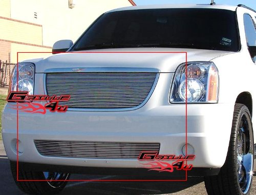 (APS Fits 2007-2013 GMC Yukon Billet Grille Grill Insert Combo #N19-A15876G)