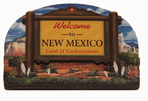 (New Mexico State Welcome Sign Wood Fridge Magnet 2)