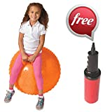 """36"""" Knobby Space Hopper Ball with Handle by ArtCreativity - 7 Vibrant Color Options - Deluxe Bouncer Gym Toys - Playtime and Exercise Hoppity Hop Jumping Ball for Tall Kids & Adults - Pump Included"""