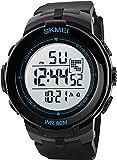 Cheap VOEONS Digital Watch Men 50M Waterproof Sports Military Watch Black On Sale Clearance reloj de mujeres