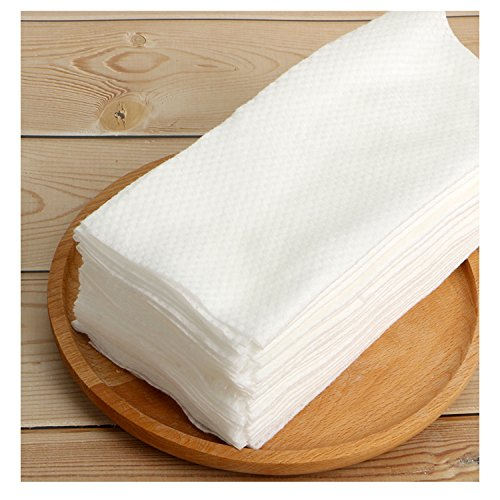 Facial Cotton Tissue Cotton Soft Towel Durable Multi-purpose Wipes for Cleaning Face, Makeup Remover, Baby Care, Dry Wet Amphibious 80Pcs 7.9inch×7.9inch by ZMBeauty (Image #1)